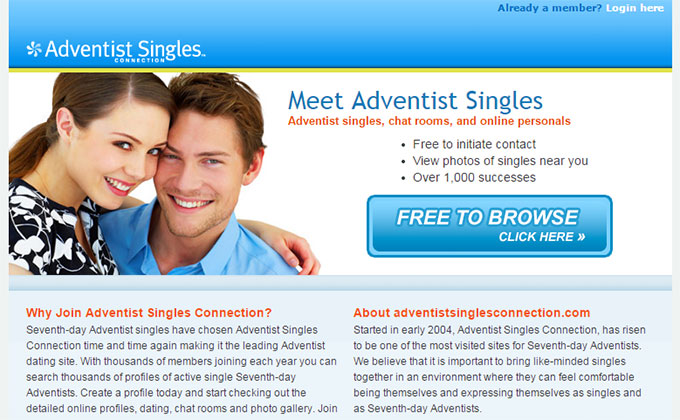 adventist dating site 100 free Try sda dating and meet your seventh day adventist now, sda dating new here sign up have an account 100% free basic membership allows you to browse the site.